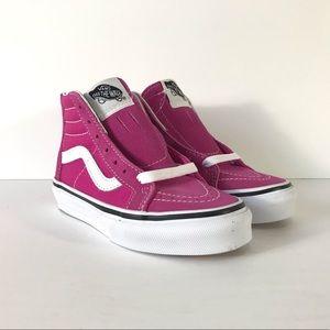Vans Sk8-Hi Zip Very Berry True White Sneakers
